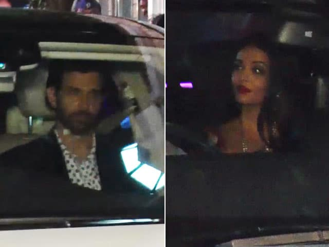 Video : Hrithik, Aishwarya, Aditya & Other Stars Spotted At A Wedding