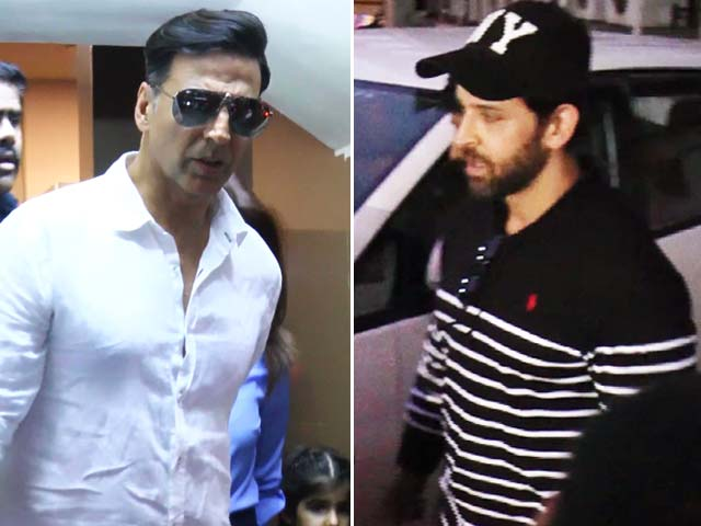Video : Hrithik Roshan & Akshay Kumar Watch Disney - Pixar's COCO With Their Kids