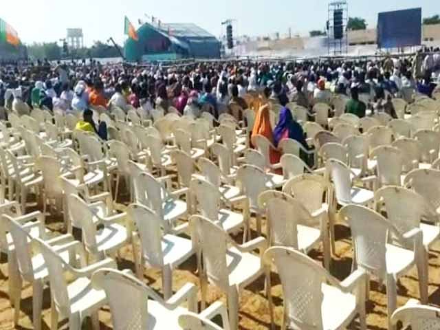 Video : Video Used By Opponents To Claim Low Turnout At PM Rally In Gujarat