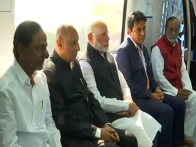 Video : PM Modi Launches Hyderabad Metro, Takes First Ride