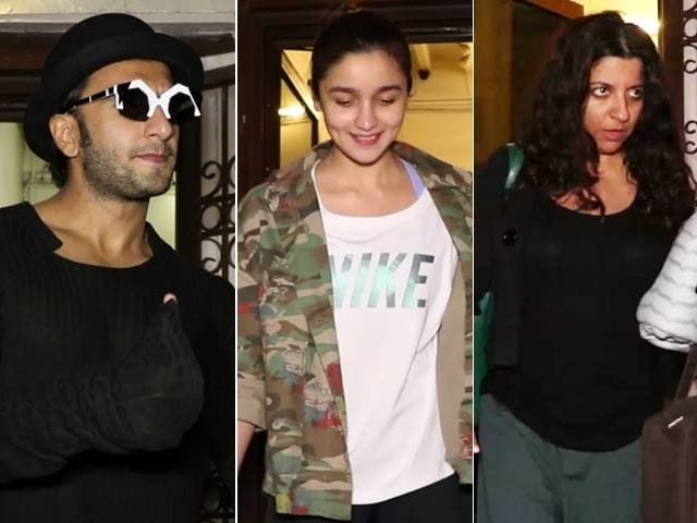 Spotted! Zoya Akhtar With 'Gully Boy' Actors Alia Bhatt & Ranveer Singh