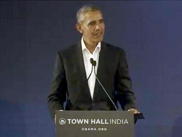 Video : <i>Bahut Dhanyavad</i>, Says Barack Obama At Town Hall In Delhi
