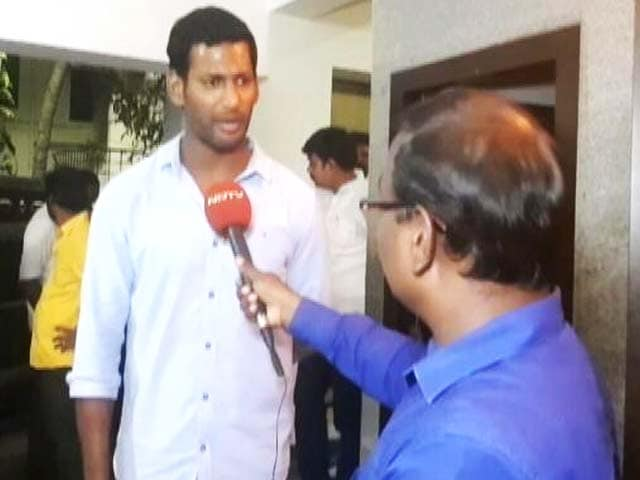 "Video : RK Nagar Nomination Rejected, Actor Vishal Says ""Mockery Of Democracy"""
