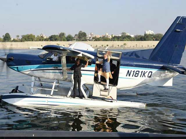 Video : 'Karachi' Detail Fuels More Buzz Over PM Modi's Seaplane Ride In Gujarat