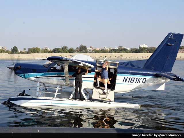 Video : PM Modi's Seaplane Ride: Creating A Wave?