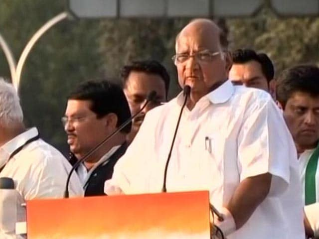 "Video : ""PM Should Be Ashamed"", Sharad Pawar On Remarks Against Manmohan Singh"