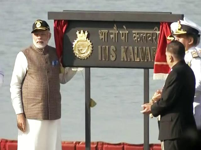 Video : INS Kalvari, First Made-In-India Scorpene-Class Sub Joins Navy
