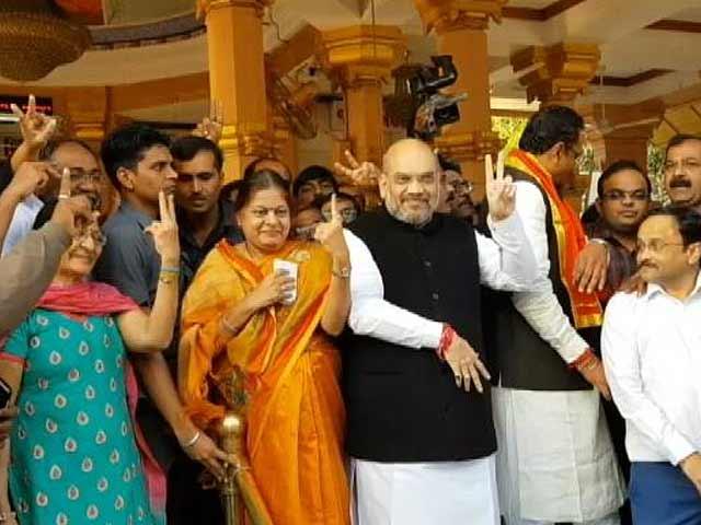 Video : Gujarat Election 2017: Amit Shah Casts His Vote