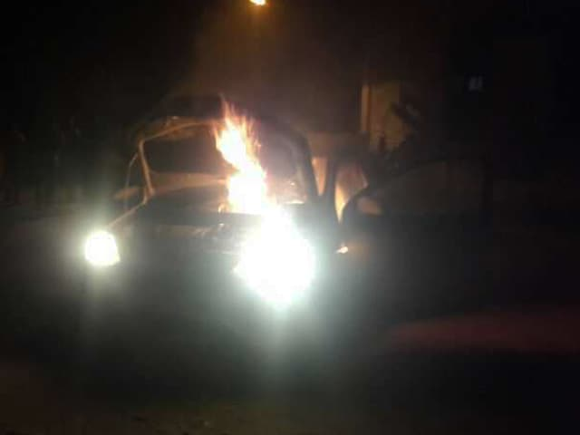 Video : Carol Singers' Car Set On Fire In Madhya Pradesh's Satna