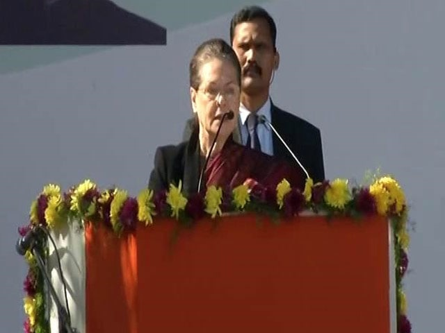 Video : New Leadership From Today, Says Sonia Gandhi As Rahul Takes Over