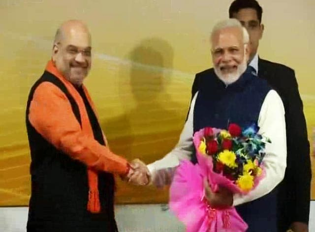 Video : PM Modi, Amit Shah Join Celebrations At BJP HQ