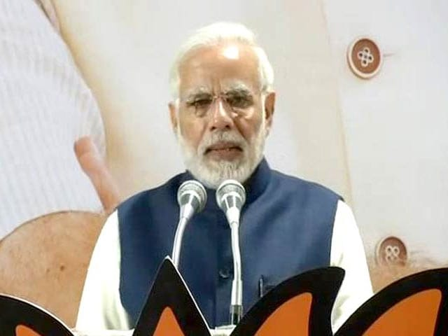 Video : PM Modi Ends His Speech At BJP HQ With Chants Of <i>Vikas Hi Jeetega</i>