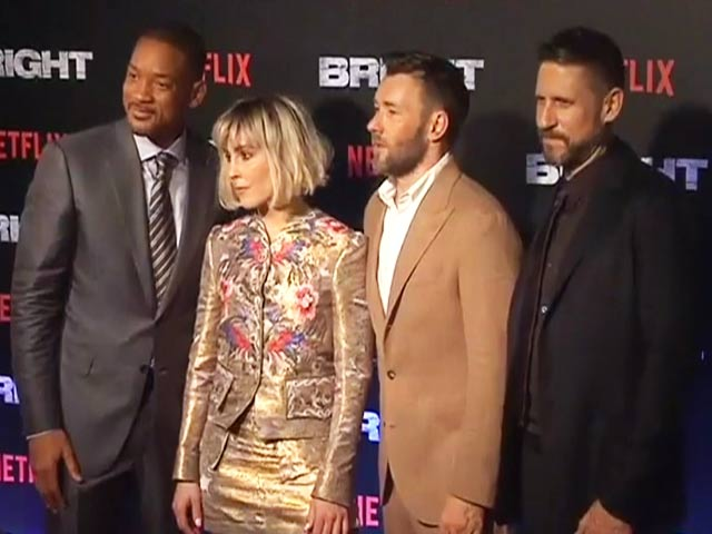 Will Smith & Joel Edgerton At The Mumbai Premiere Of Bright
