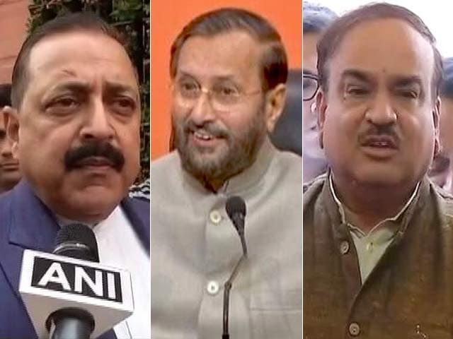 Videos : राहुल गांधी के हमले के बाद केंद्रीय मंत्रियों का पलटवार