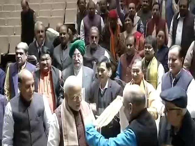 Video : Winter Session Of Parliament Day 4: BJP Parliamentary Party Meet Begins