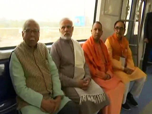 Video : PM Modi Takes Ride On Delhi Metro's New Magenta Line
