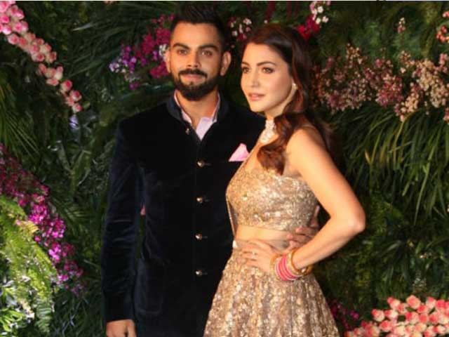 Anushka Sharma & Virat Kohli At Their Mumbai Reception