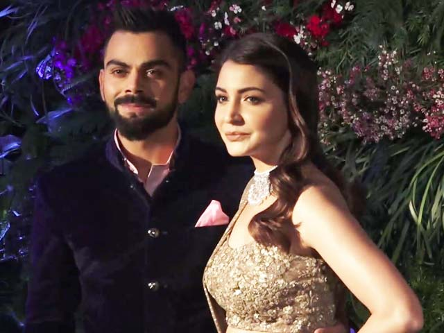Watch! Anushka Sharma & Virat Kohli At Their Mumbai Reception