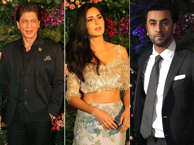 SRK, Ranbir, Katrina & Kriti At Virat & Anushka's Reception