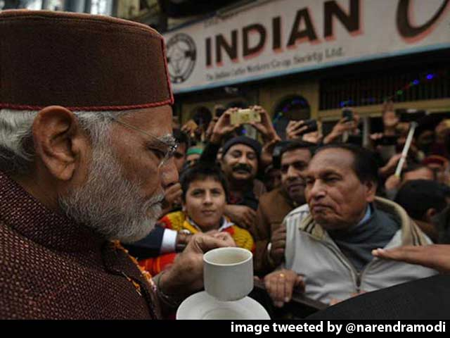 Video : PM Modi Jogs Memory With Cup Of Coffee At Shimla As BJP Forms Government