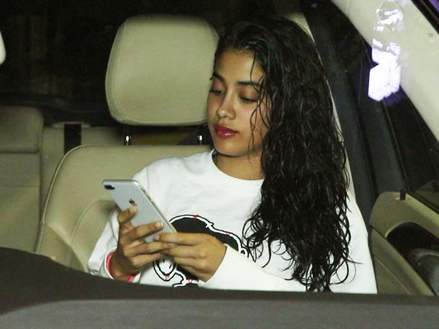 Janhvi Kapoor Spotted Outside A Salon