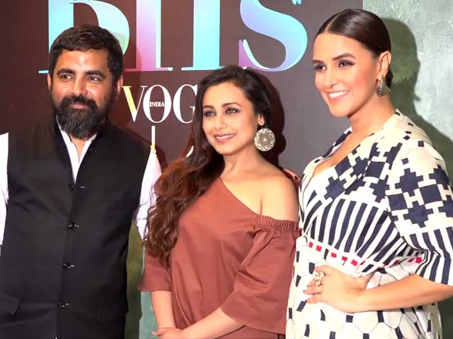 Video : Rani Mukerji Spotted With BFF Sabyasachi & Neha Dhupia