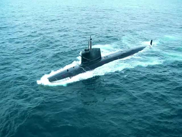 Video : Watch India's Deadliest Sub INS Kalvari Dive Underwater, Shoot Missiles