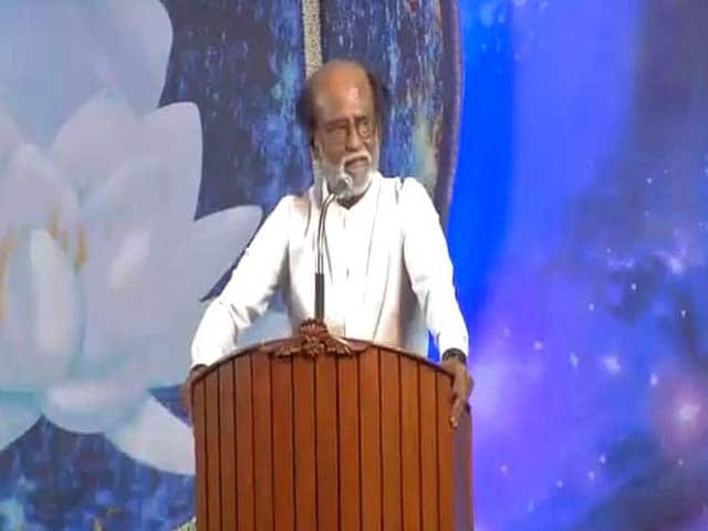 "Video : ""Change Needed, It's Time"": Rajinikanth Announces New Party"
