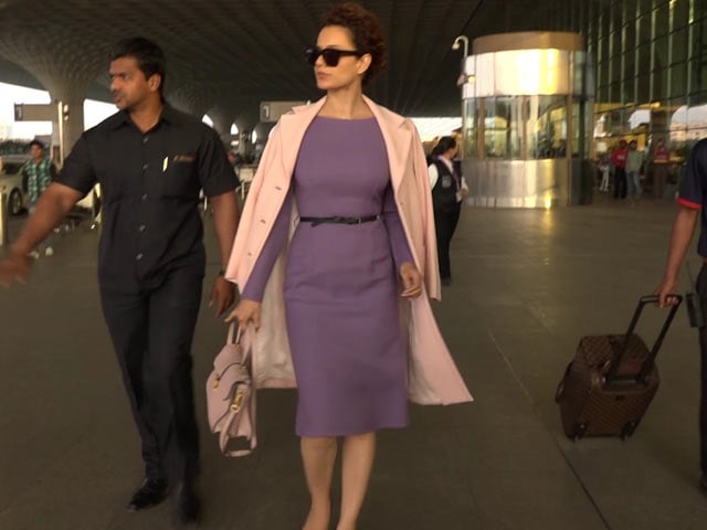 Video : Kangana Ranaut's Last Fashionable Airport Look Of 2017