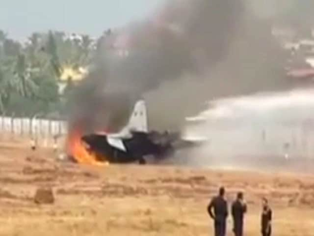 Video : Navy Fighter Jet Crashes After Overshooting Runway In Goa, Pilot Safe