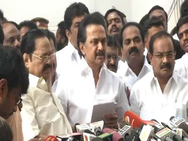 Video : DMK, Allies Walk Out Of Assembly As Governor Makes Maiden Speech