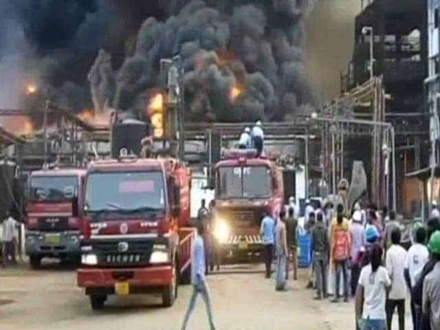 Video : Huge Fire Breaks Out At Chemical Plant Near Vadodara In Gujarat