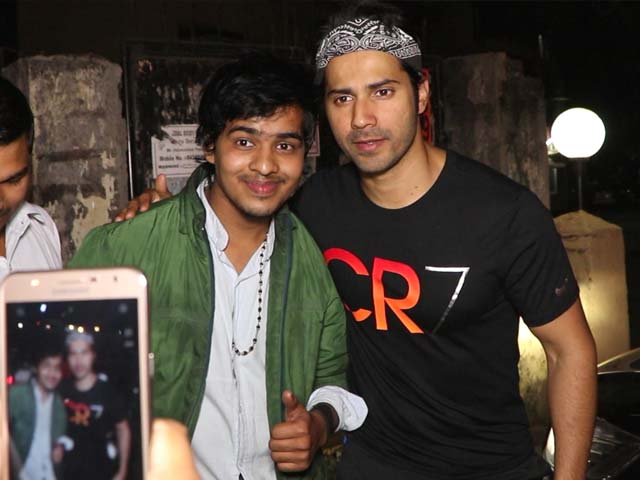 Spotted! Varun Dhawan With His Fans Outside Soojit Sircar's Office