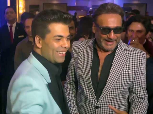Video: Karan Johar & Jackie Shroff At A Party