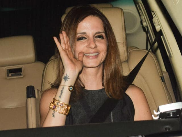 Sussanne Khan, Sonali Bendre & Other Actors At Hrithik's Birthday Party
