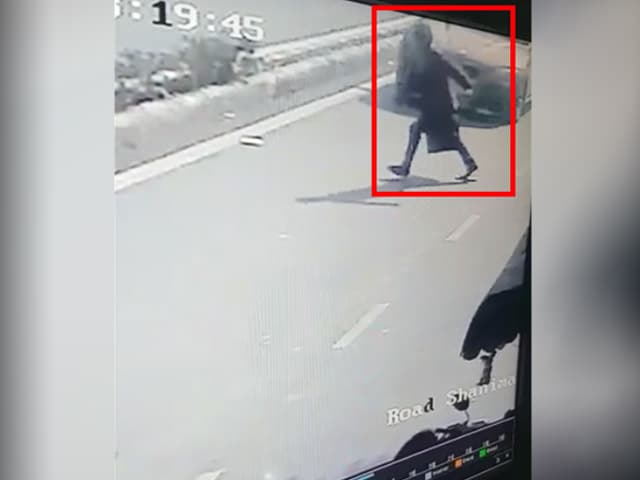 Video : CCTV Shows 50-Year-Old Flung In Air In BMW Hit-And-Run By Delhi Student
