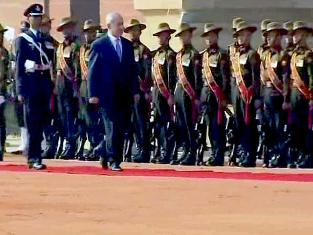 Videos : इजरायल के PM बेंजामिन नेतन्याहू को गार्ड ऑफ ऑनर
