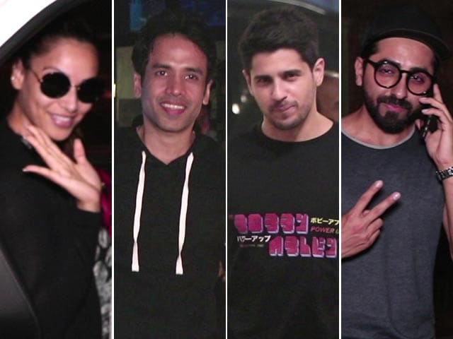 Video : Celeb Spotting: Sidharth, Bipasha, Tusshar & Ayushmann Snapped