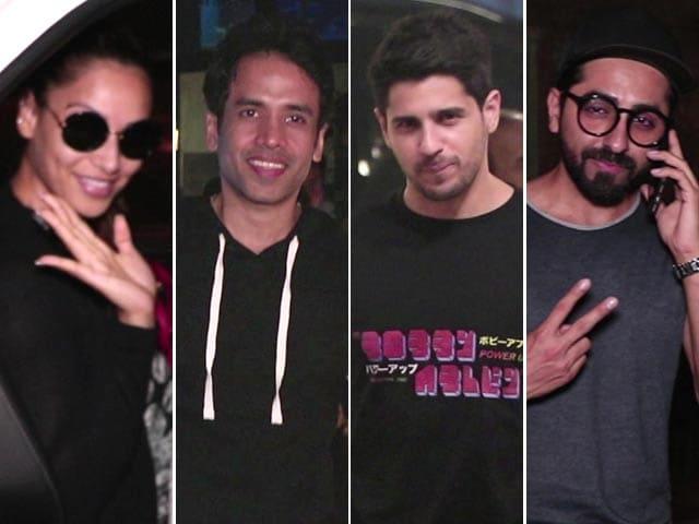 Celeb Spotting: Sidharth, Bipasha, Tusshar & Ayushmann Snapped