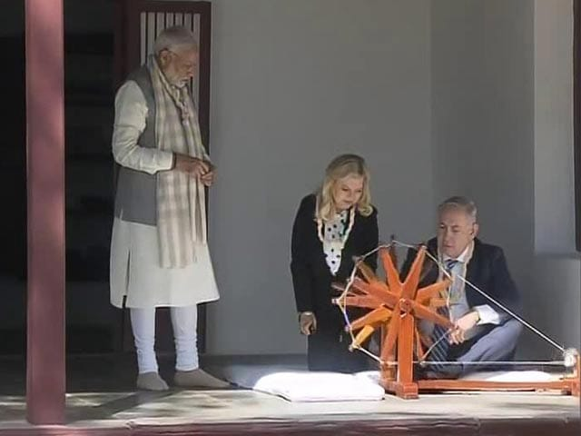 Video : After 8-km Roadshow, PM Modi, Netanyahu At Gandhi's Ashram