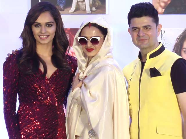Rekha At Dabboo Ratnani's 2018 Calendar Launch