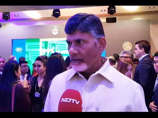 Video: 'This Is India's Davos': Chandrababu Naidu