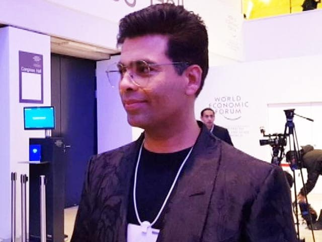Video: PM Modi's Presence Makes WEF More Exhilarating: Karan Johar