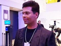 Video: PM Modi's Presence Makes WEF More Exhilarating: Karan Johar