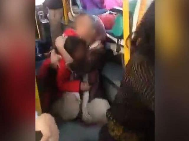 Video : Horror On A School Bus In Gurgaon, Attacked By Mob Protesting <i>Padmaavat</i>