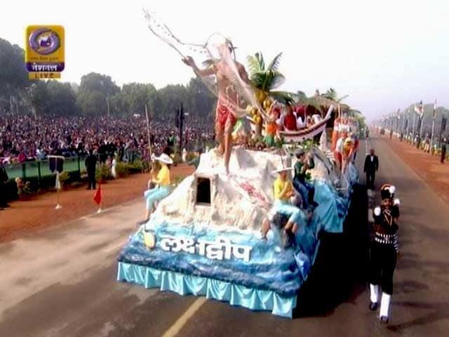 Video : गणतंत्र दिवस की परेड में अन्य राज्यों के अलावा लक्षद्वीप की झांकी भी आई