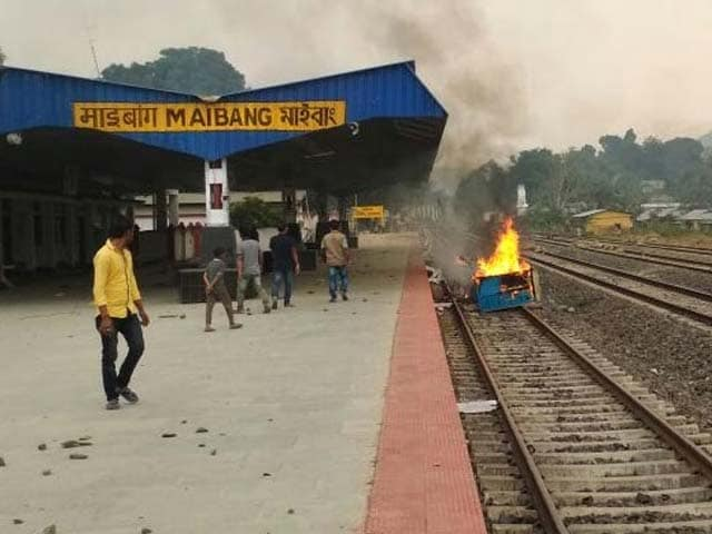 Video : Trains Blocked For 2 Days, Curfew In Assam Town As Police Firing Kills Two