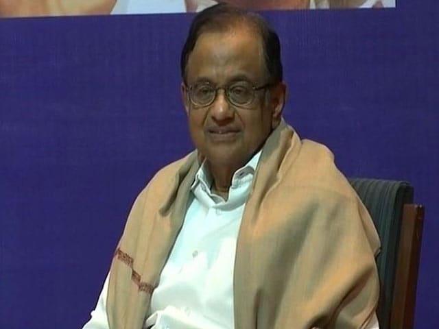 "Video : P Chidambaram Calls Idea Of Simultaneous Polls A ""Jumla"""
