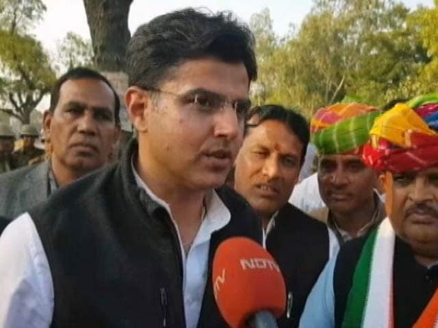 Video : Bypolls Win A Gift To Rahul Gandhi From People Of Rajasthan: Sachin Pilot