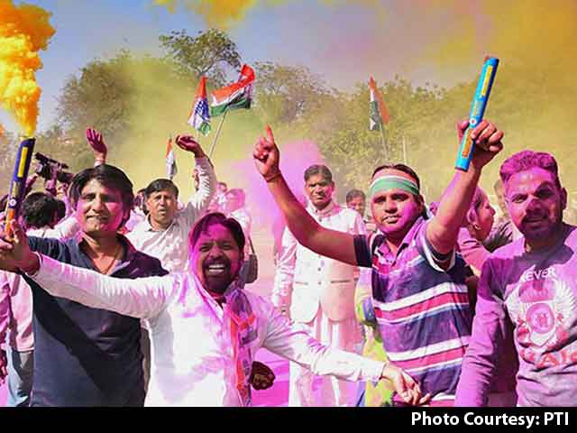 """Video : Congress Scores 3/3 In Rajasthan Bypolls, """"Well Done, Proud"""" Says Rahul Gandhi"""